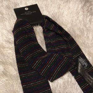 NWT Zara Metallic Multi-Stripe Fashion Scarf